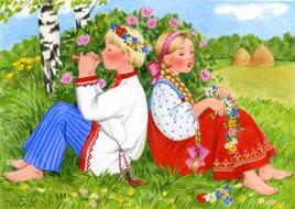 песни с картинками русские народные